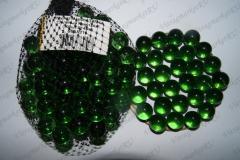 Тип 5А 100 шт Зеленые Кристалл 14 мм - Марблс